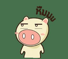 Ood Ood joyful pig sticker #625088