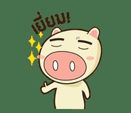 Ood Ood joyful pig sticker #625090