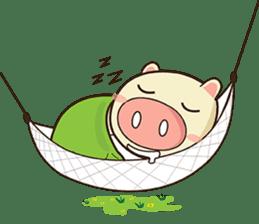 Ood Ood joyful pig sticker #625091
