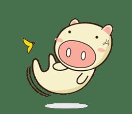Ood Ood joyful pig sticker #625093