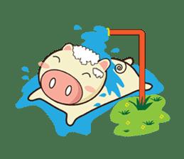 Ood Ood joyful pig sticker #625094