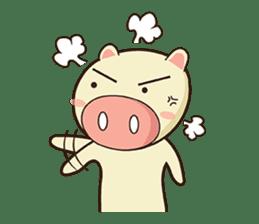 Ood Ood joyful pig sticker #625097