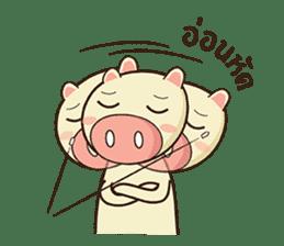 Ood Ood joyful pig sticker #625098