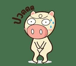 Ood Ood joyful pig sticker #625099