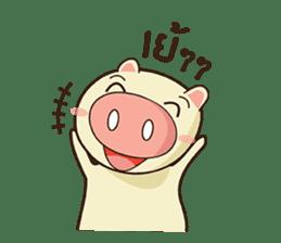 Ood Ood joyful pig sticker #625100
