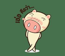 Ood Ood joyful pig sticker #625103