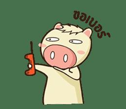 Ood Ood joyful pig sticker #625104