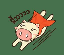 Ood Ood joyful pig sticker #625106