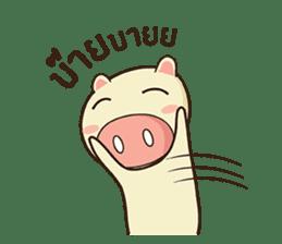 Ood Ood joyful pig sticker #625107