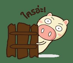 Ood Ood joyful pig sticker #625109