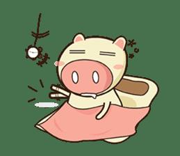 Ood Ood joyful pig sticker #625111