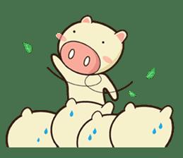 Ood Ood joyful pig sticker #625112
