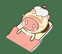 Ood Ood joyful pig sticker #625115