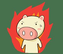 Ood Ood joyful pig sticker #625116