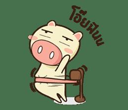 Ood Ood joyful pig sticker #625117
