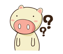 Ood Ood joyful pig sticker #625119