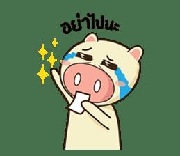 Ood Ood joyful pig sticker #625120