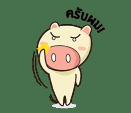 Ood Ood joyful pig sticker #625121