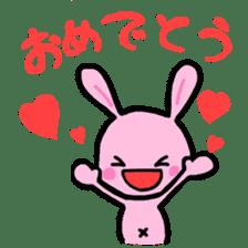 Pink rabbit sticker #625638