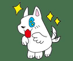 Feather dog stamp sticker #626085