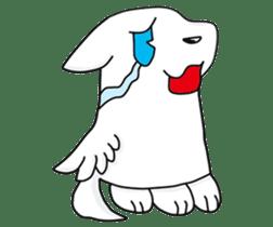 Feather dog stamp sticker #626091
