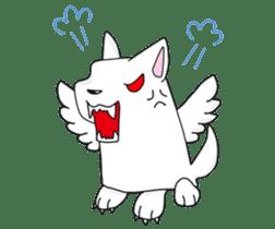 Feather dog stamp sticker #626092