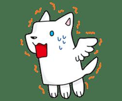 Feather dog stamp sticker #626100