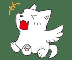 Feather dog stamp sticker #626104