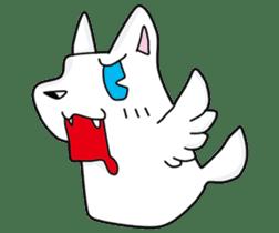 Feather dog stamp sticker #626120