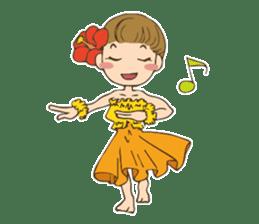 Hulagirl Mahalo sticker #627093