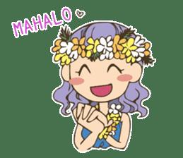 Hulagirl Mahalo sticker #627094