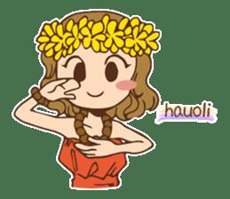 Hulagirl Mahalo sticker #627115