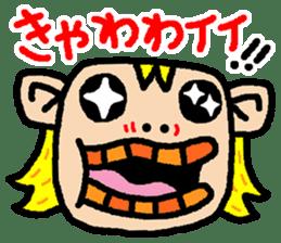 okinawa language funny face manga 03 sticker #627404