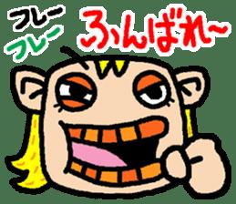 okinawa language funny face manga 03 sticker #627408