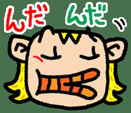 okinawa language funny face manga 03 sticker #627415