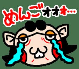 okinawa language funny face manga 03 sticker #627418