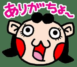 okinawa language funny face manga 03 sticker #627423
