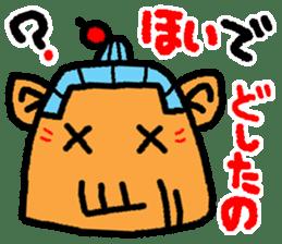 okinawa language funny face manga 03 sticker #627438