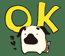 Maro Pug sticker #627722