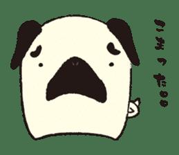 Maro Pug sticker #627755