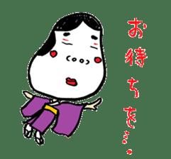 """Okame"" and ""Hyottoko"" sticker #627969"