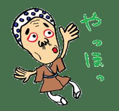 """Okame"" and ""Hyottoko"" sticker #627970"