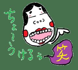 """Okame"" and ""Hyottoko"" sticker #627971"