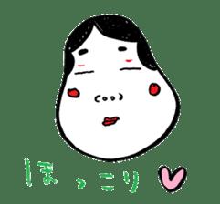 """Okame"" and ""Hyottoko"" sticker #627977"