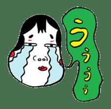 """Okame"" and ""Hyottoko"" sticker #627981"