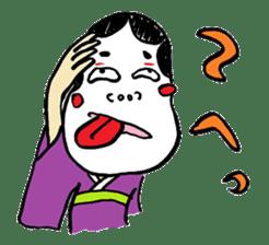 """Okame"" and ""Hyottoko"" sticker #627993"