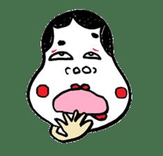 """Okame"" and ""Hyottoko"" sticker #627995"