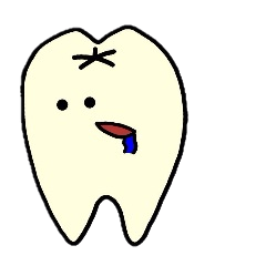 Sticker of cute tooth(ver without words)