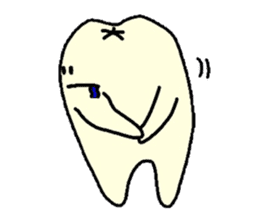 Sticker of cute tooth(ver without words) sticker #629202