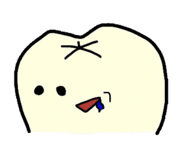 Sticker of cute tooth(ver without words) sticker #629221